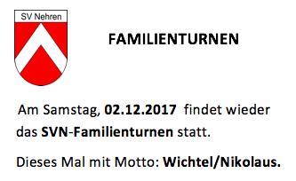 Einladung zum Familienturnen