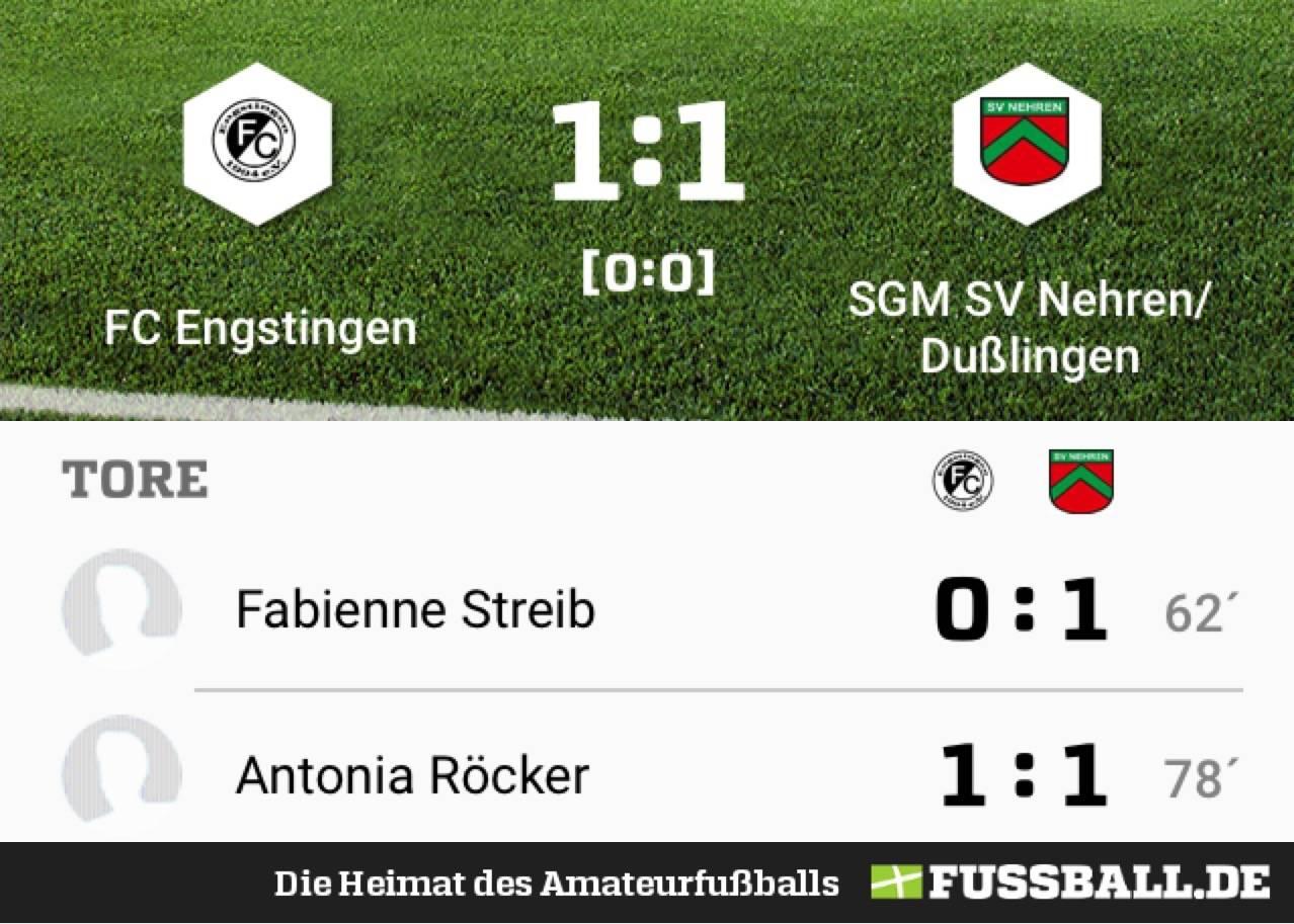 [Frauen] FC Engstingen – SGM SV Nehren/Dußlingen 1:1