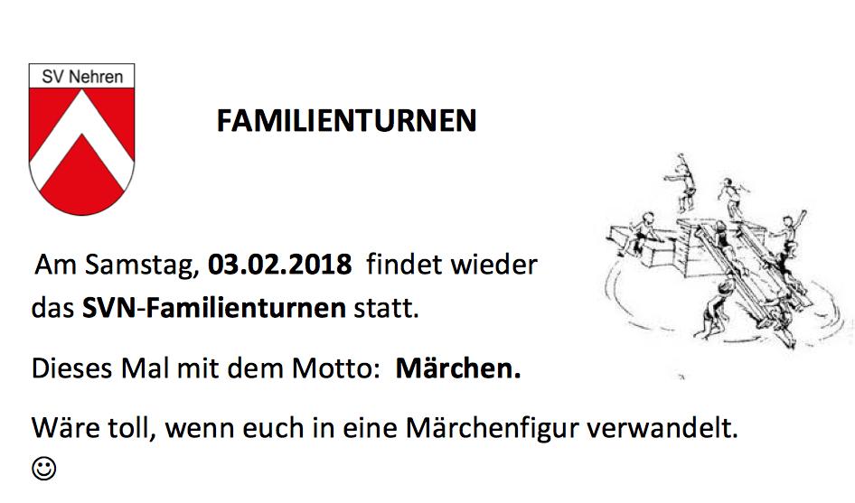 Familienturnen am 03.02.2018