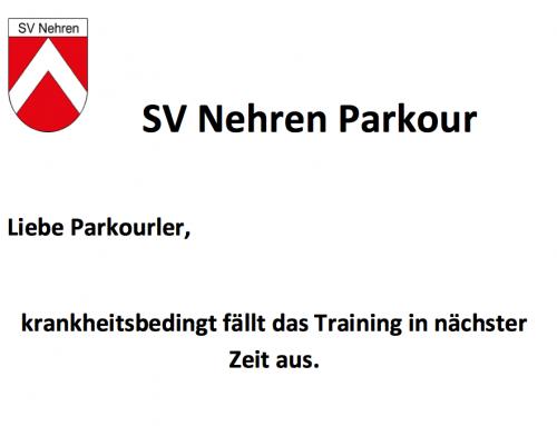 !!! Parkour fällt aus !!!