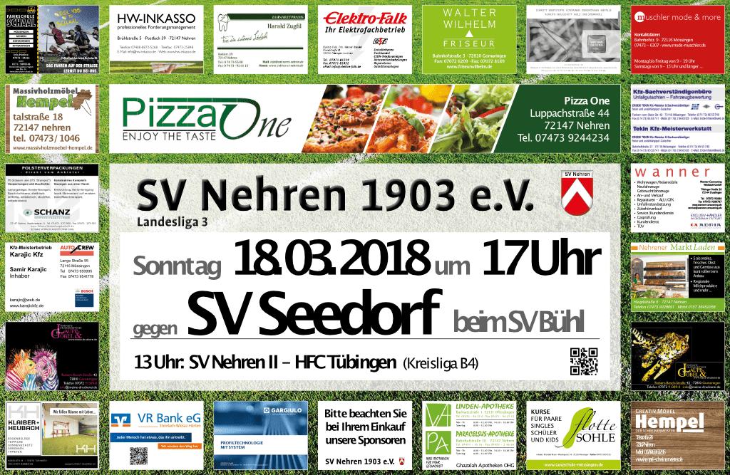 SVN – SV Seedorf nach Bühl verlegt!