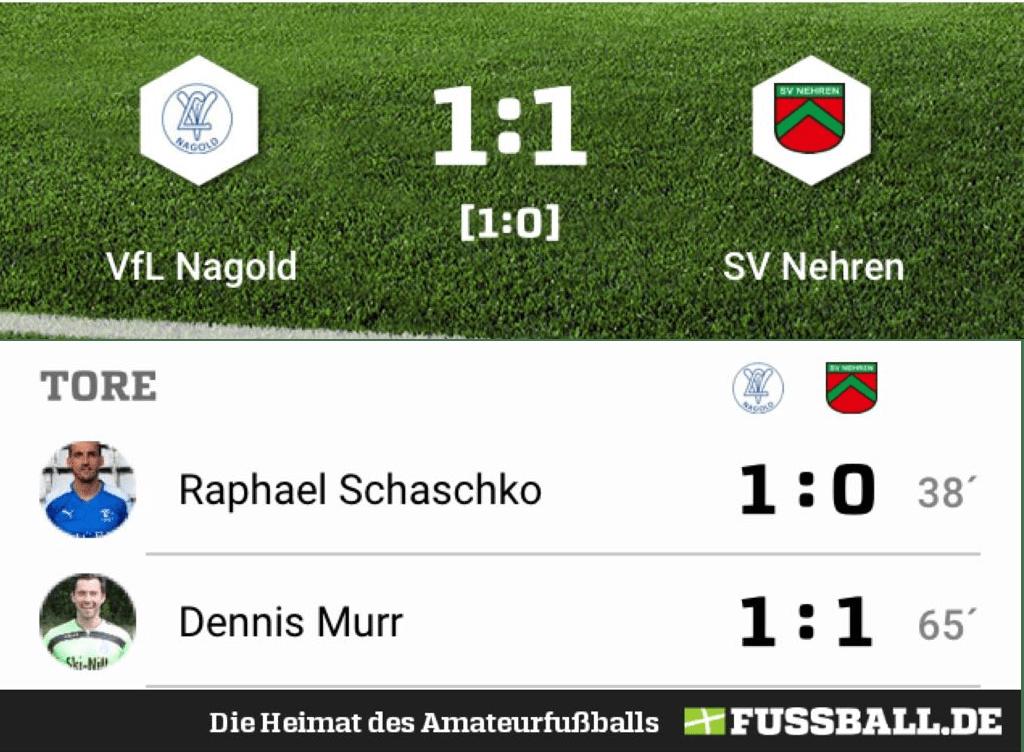 VfL Nagold – SV Nehren 1:1