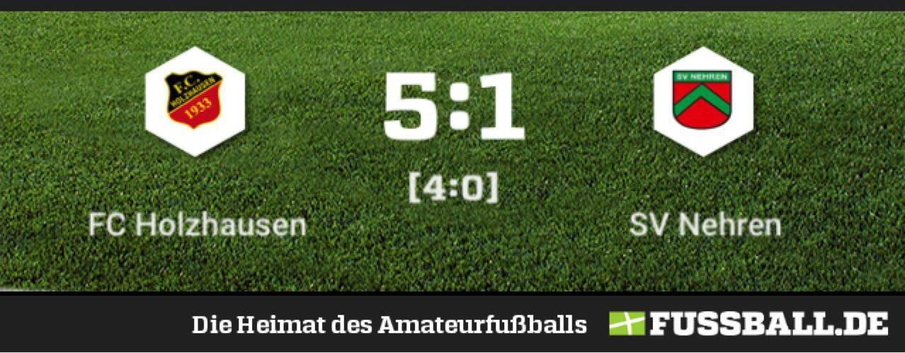 FC Holzhausen – SV Nehren 5:1