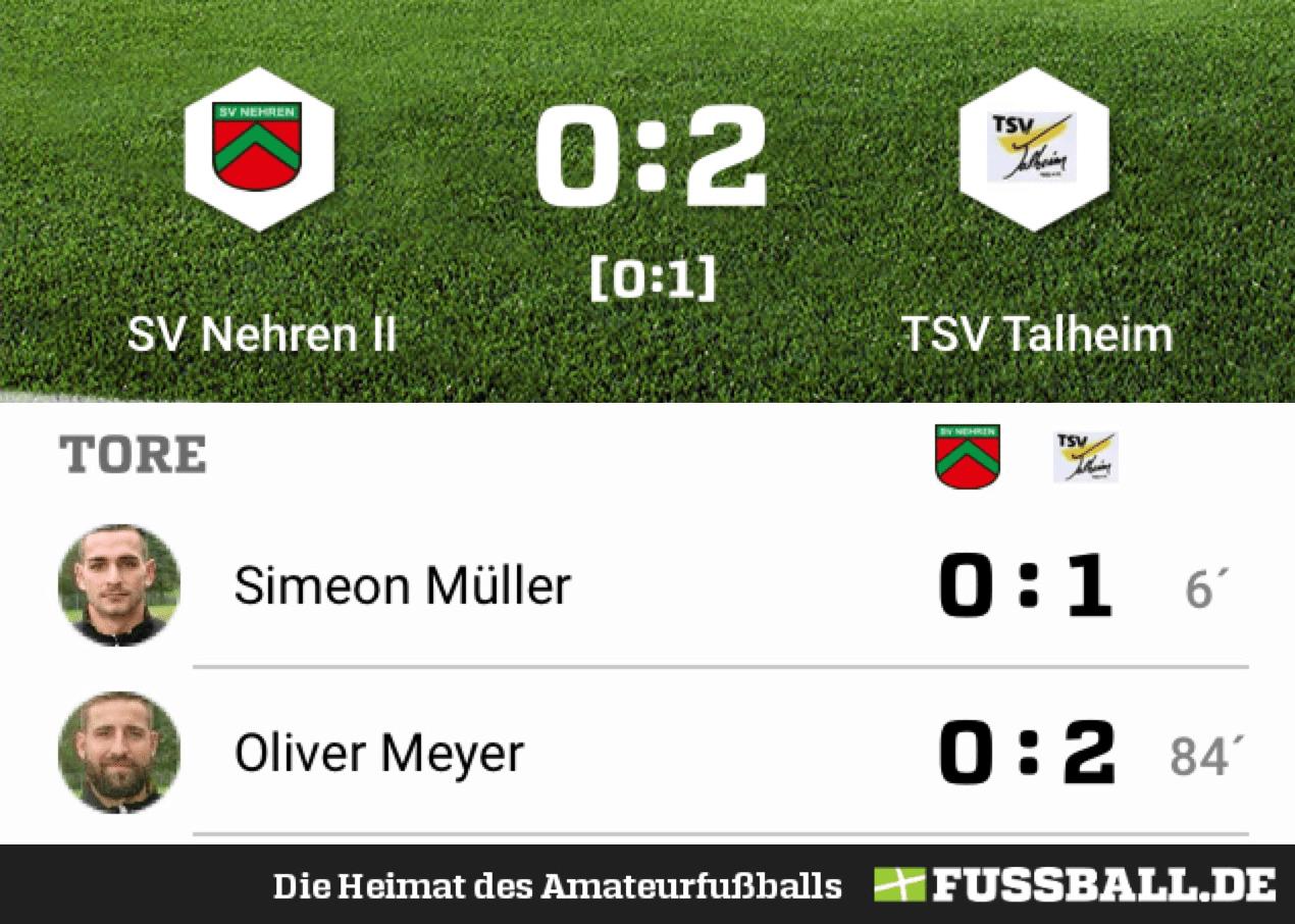 SV Nehren – TSV Talheim 0:2
