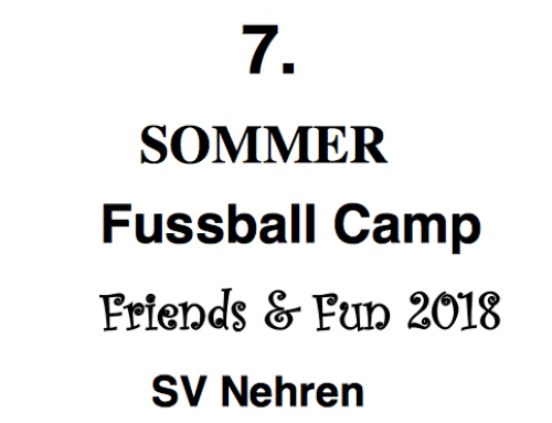 7.  SOMMER Fussball Camp – Friends & Fun 2018