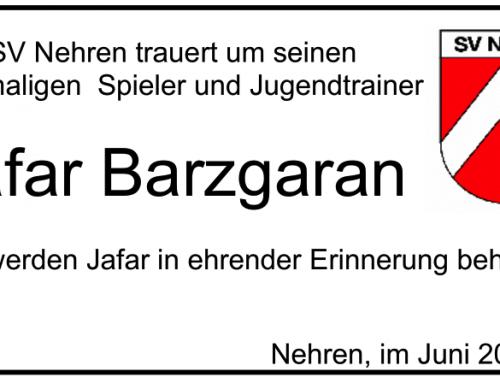 Nachruf Jafar Barzgaran