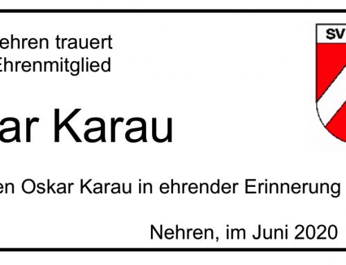 Nachruf Oskar Karau