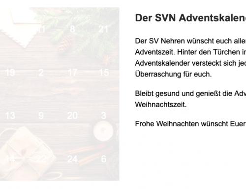 Statement und Weihnachtsgrüße des SV Nehren