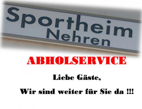 Abholservice des Sportheim Nehren